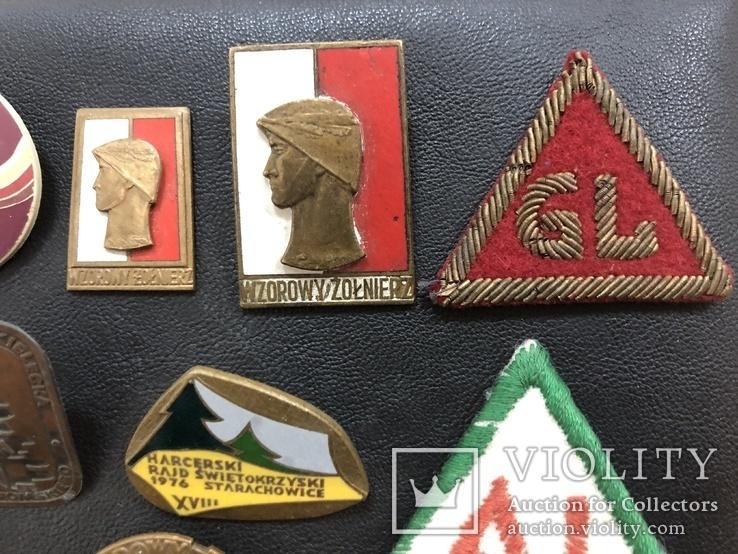 Иностаррые бронзовые значки, фото №4