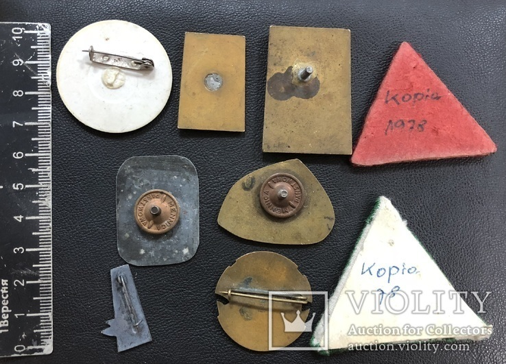Иностаррые бронзовые значки, фото №7