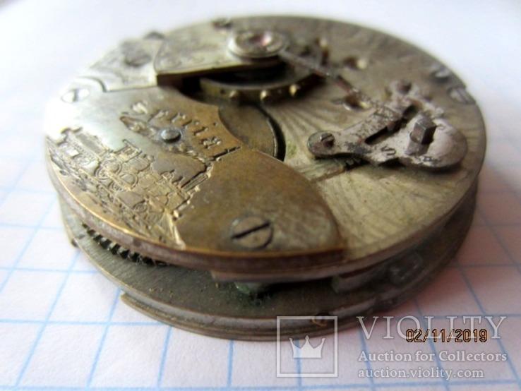 Часовой механизм карманных часы R.I.F Co., фото №6