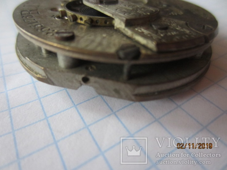 Часовой механизм карманных часы R.I.F Co., фото №7