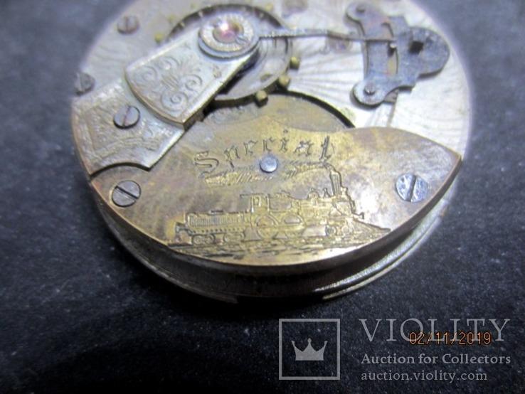Часовой механизм карманных часы R.I.F Co., фото №12
