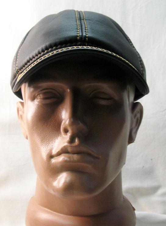 Кепка - бейсболка , р.55 , коже заменитель , прошитая . Утепленная ., фото №4