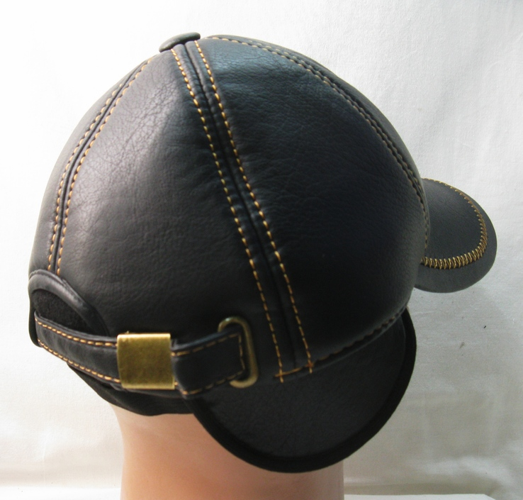 Кепка - бейсболка , р.55 , коже заменитель , прошитая . Утепленная ., фото №12