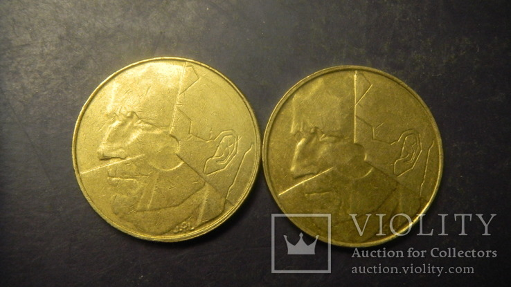 5 франків Бельгія 1993 (два різновиди), фото №3