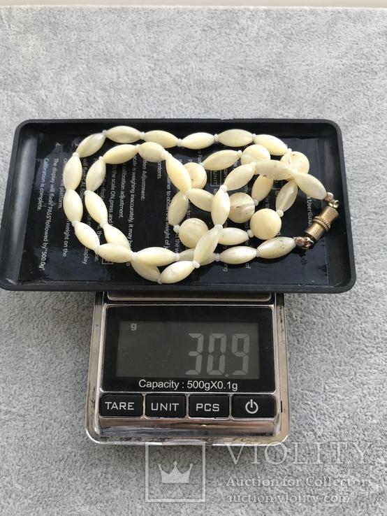 Перламутровые бусы вес 31 гр, фото №6