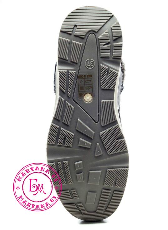 Серые зимние ботинки, полусапожки, угги на меху 37 размер, фото №11