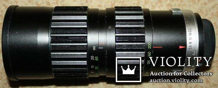 "Объектив ""Soligor ""C/D 1:3.5 f=80 -200 mm. диаметр 62 №7690341., фото №2"