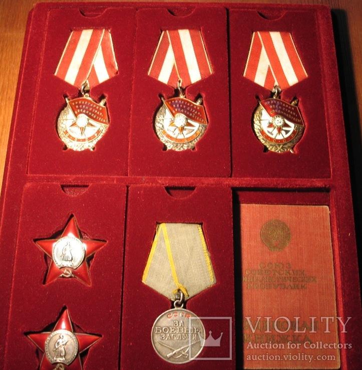 К-кт.наград на Шевцова А. И.три БКЗ две КЗ и медаль