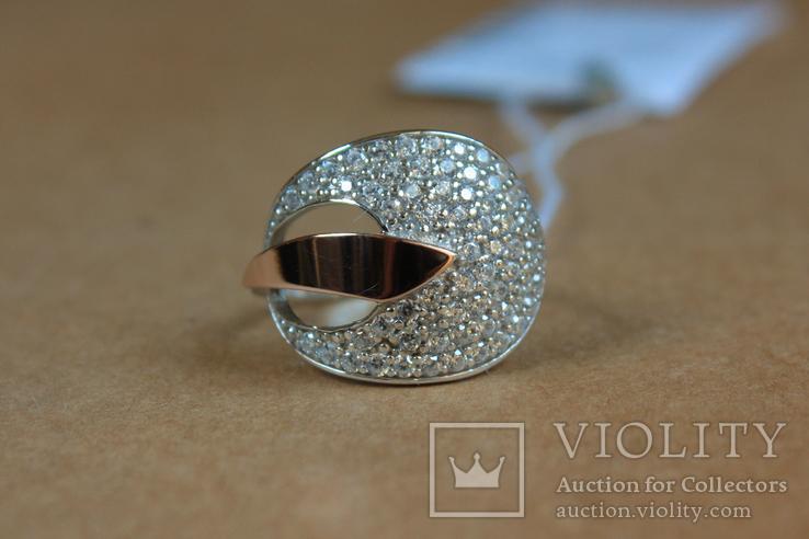 Кольцо серебро, золото, фото №3