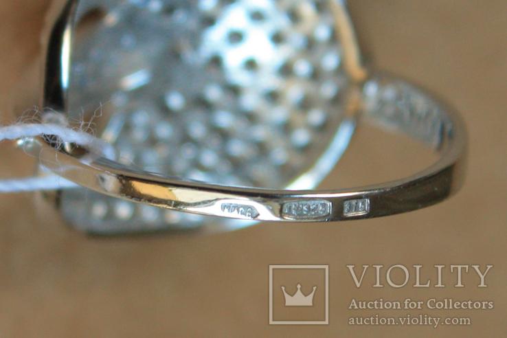 Кольцо серебро, золото, фото №6