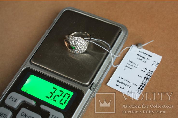 Кольцо серебро, золото, фото №7