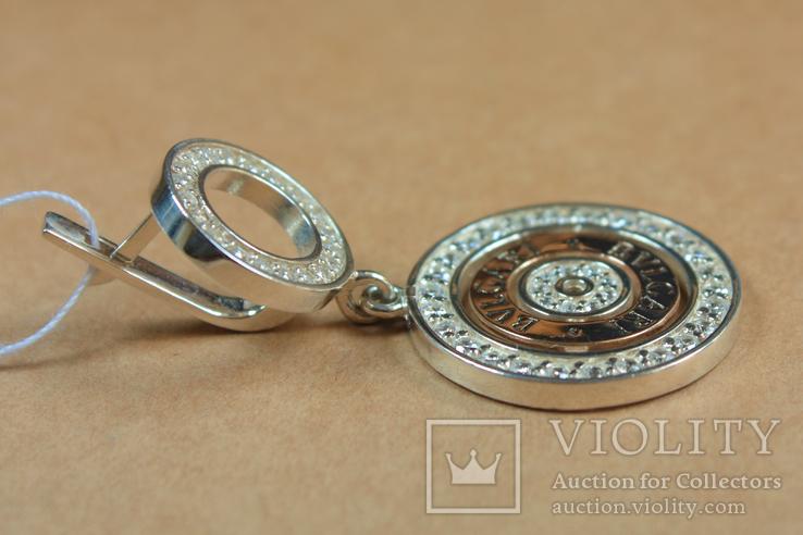 Серьги BVLGARI (Булгари) серебро, золото, фото №8