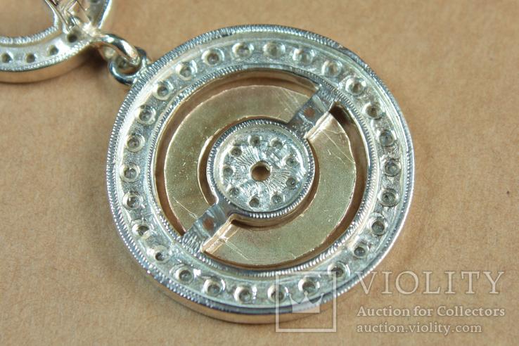 Серьги BVLGARI (Булгари) серебро, золото, фото №9
