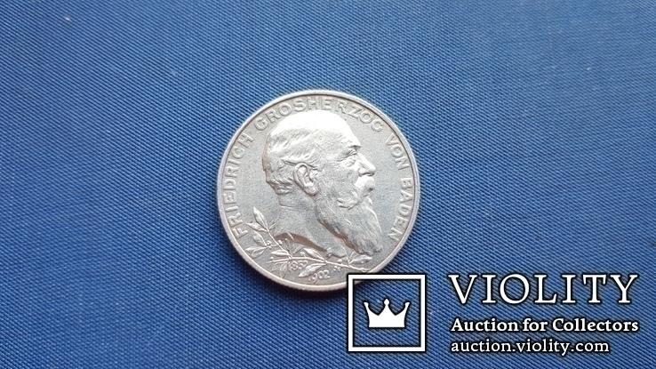 2 марки 1902 р. Баден., фото №4