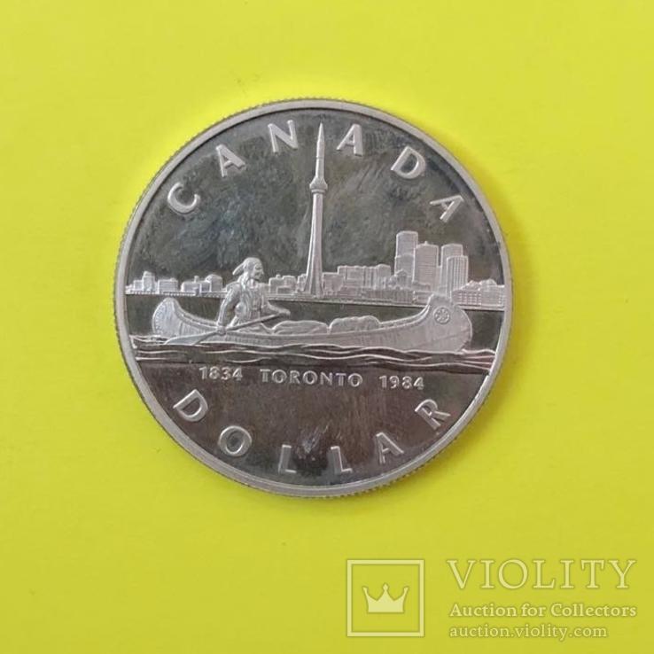 Канада 1 долар, 1984 150-та річниця - Місто Торонто, фото №3