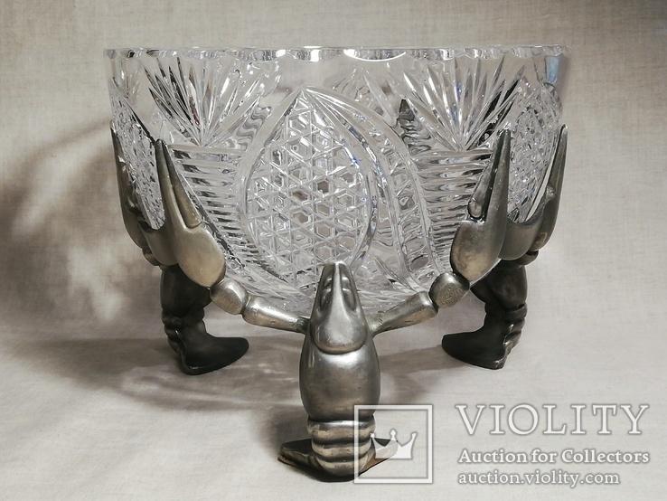 Пивной бокал - кружка с раком, и ваза хрусталь для раков, фото №4
