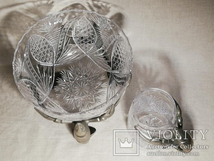 Пивной бокал - кружка с раком, и ваза хрусталь для раков, фото №7