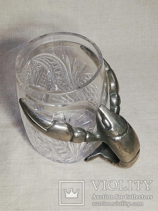 Пивной бокал - кружка с раком, и ваза хрусталь для раков, фото №8