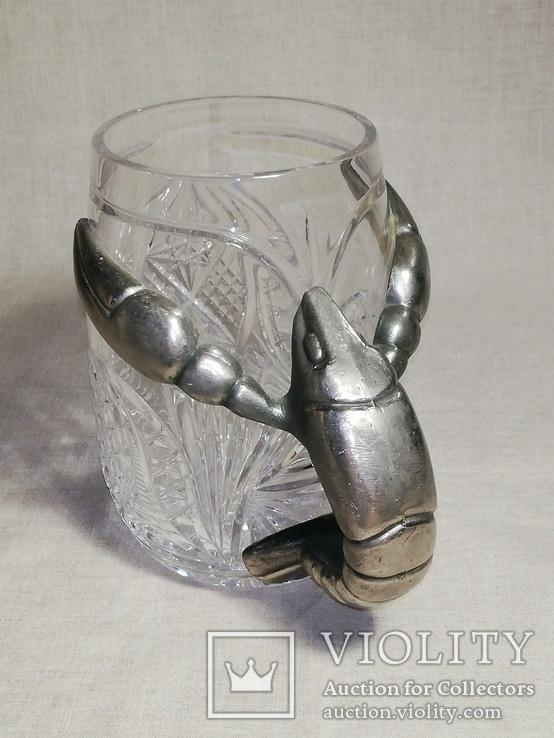 Пивной бокал - кружка с раком, и ваза хрусталь для раков, фото №11