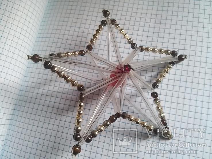 Старая елочная игрушка: Звезда. Цекляриус., фото №2