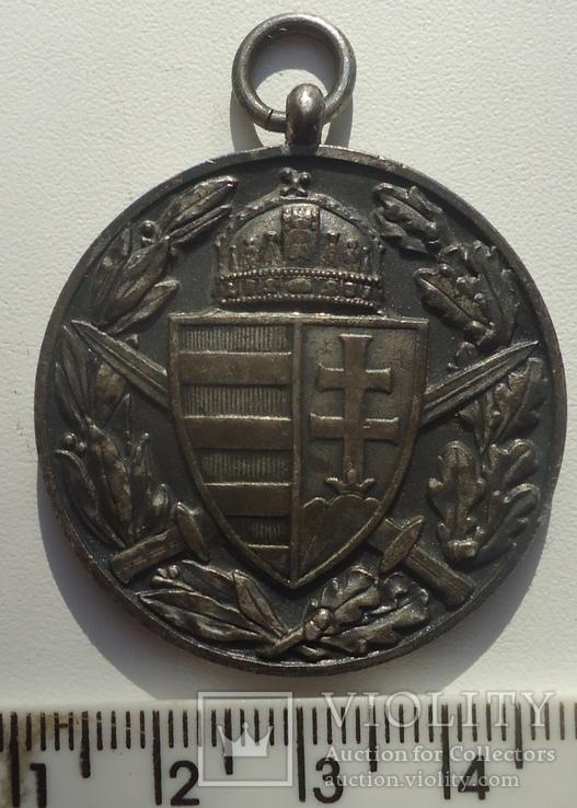 Венгрия медаль памятная  участнику ПМВ 1914-18, фото №3