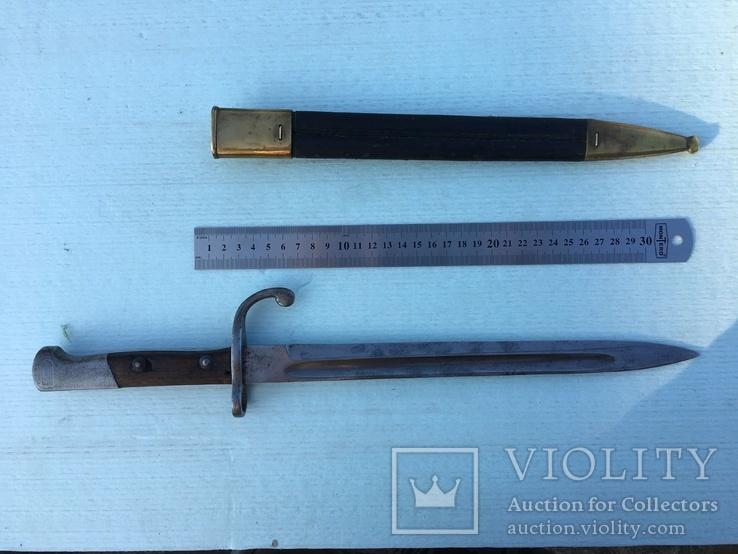 Штык-нож к винтовке Маузера для Бразилии, производства Simson&Co, Suhl, фото №3