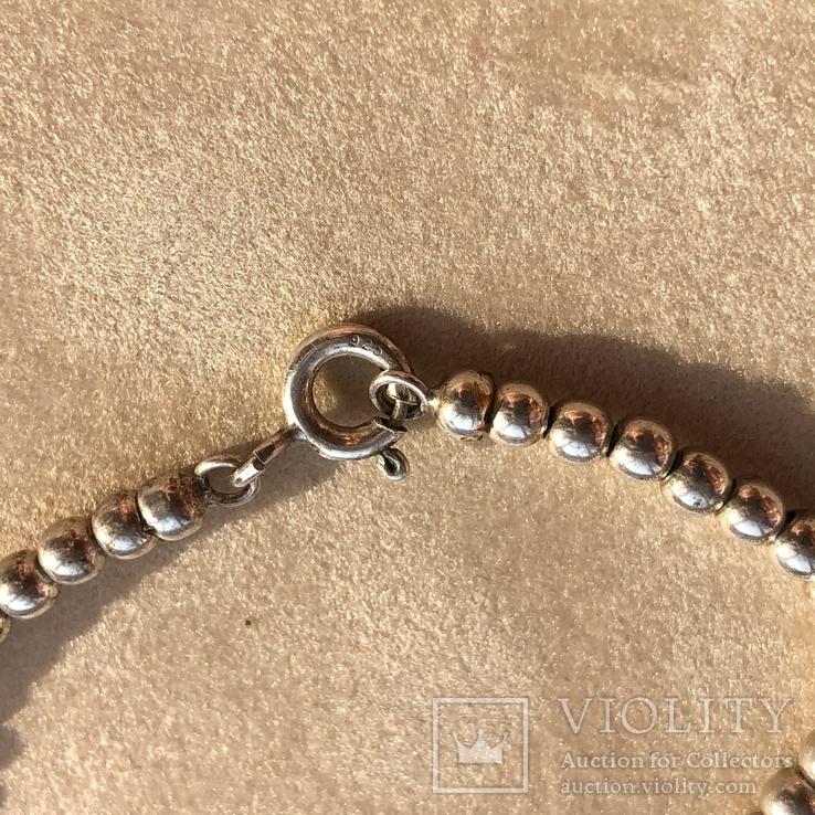 Серебряные бусы, 52 г, фото №6