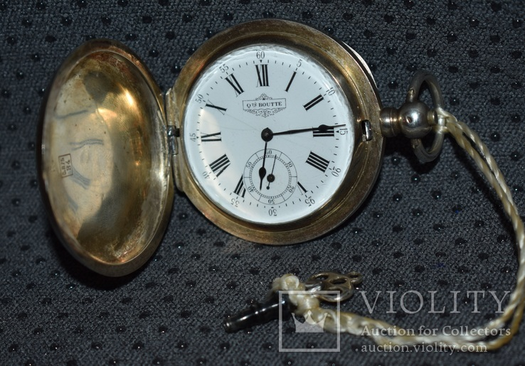 Часы Qualite Boutte серебро 84 проба крупные 121 грамм