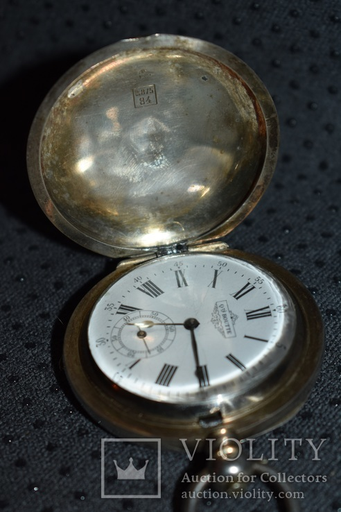Часы Qualite Boutte серебро 84 проба крупные 121 грамм, фото №8