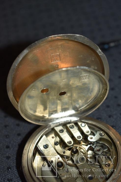 Часы Qualite Boutte серебро 84 проба крупные 121 грамм, фото №12