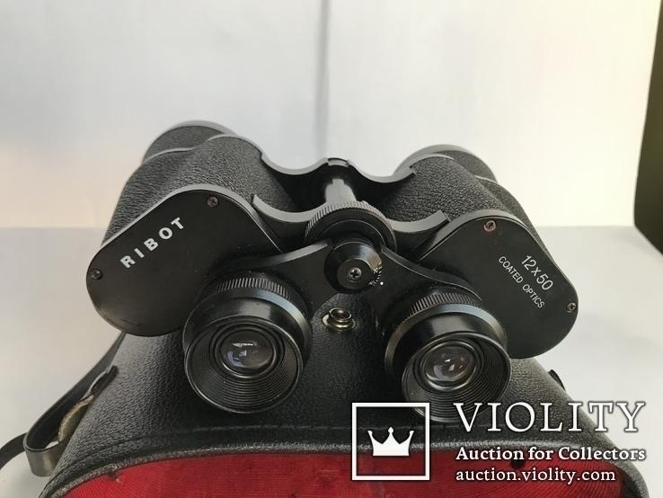 Бінокль Ribot 12*50 Coated Optics + Кофр, фото №4