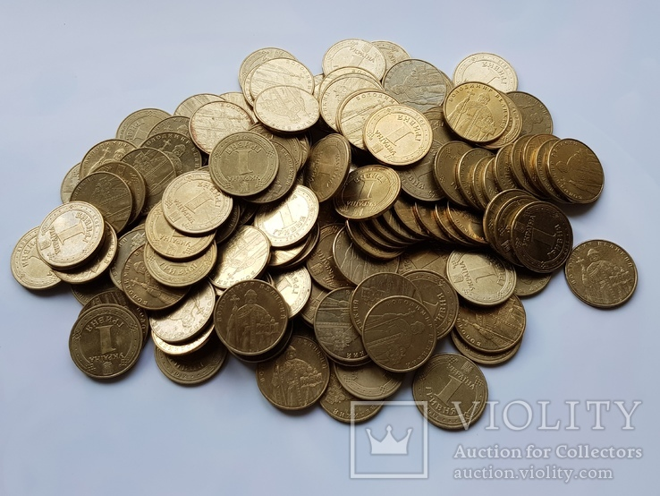 1 гривна Украины 1332 шт(Копилка)., фото №4