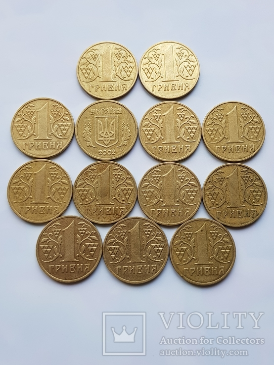 1 гривна Украины 1332 шт(Копилка)., фото №10