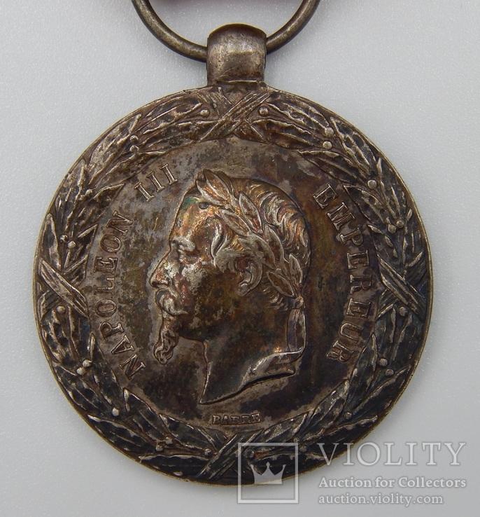 Фрация. Медаль Итальянской кампании 1859 г. Barre., фото №2