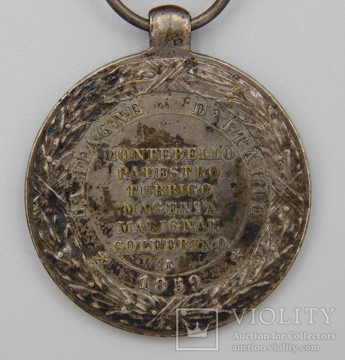 Фрация. Медаль Итальянской кампании 1859 г. Barre., фото №5