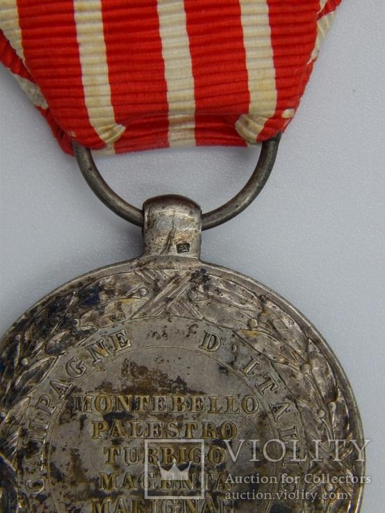 Фрация. Медаль Итальянской кампании 1859 г. Barre., фото №13