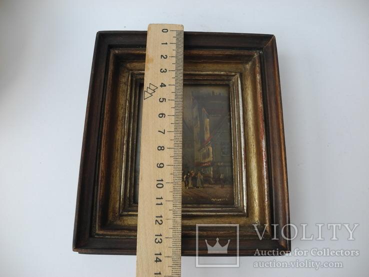 Старинная рисованная миниатюра ( Масло , Холст ) Европа, фото №10