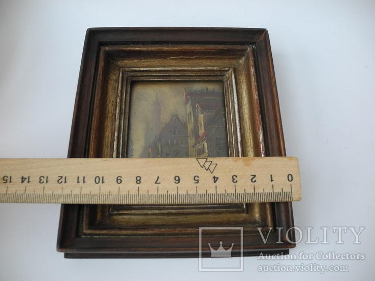 Старинная рисованная миниатюра ( Масло , Холст ) Европа, фото №11