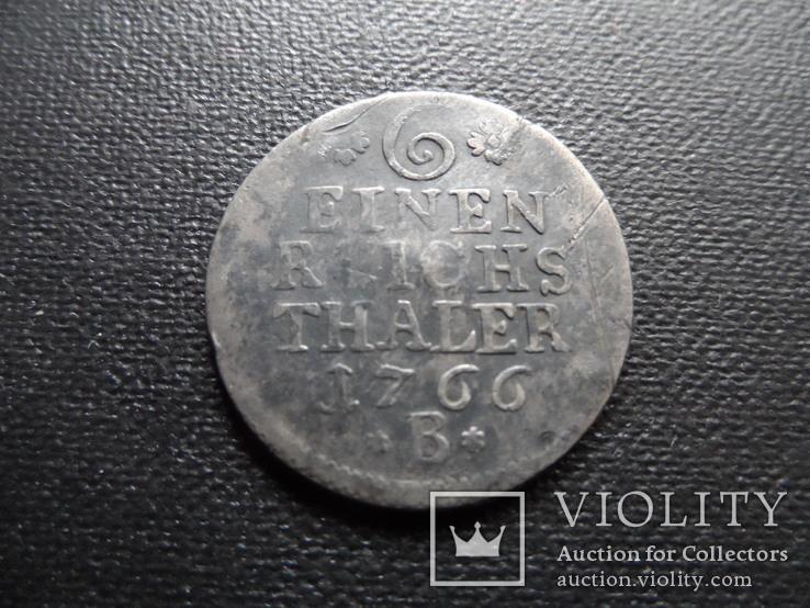1/6 талера 1766 В серебро (С.5.5), фото №2