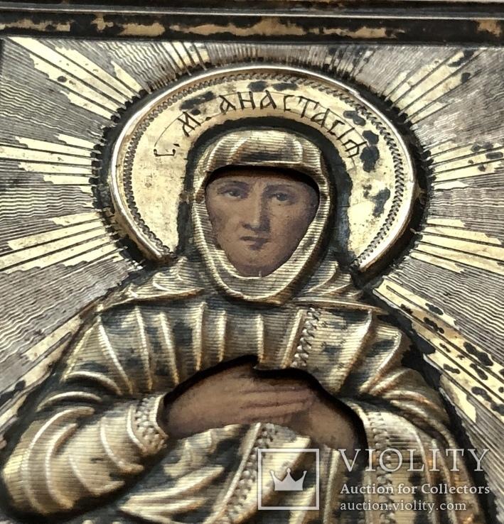 Святая Анастасия, 84, 65 на 55мм, фото №4