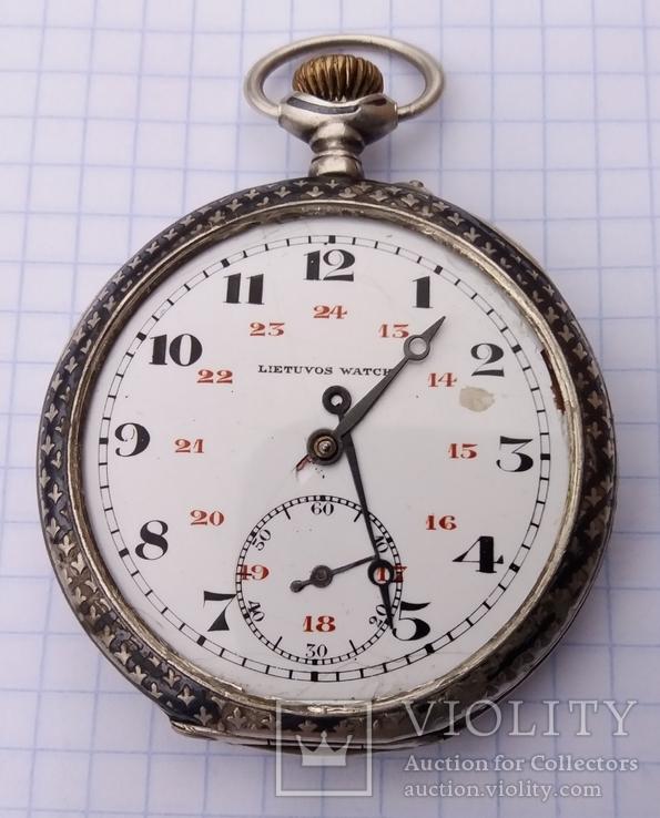 Серебряные часы (LIETUVOS WATCH)