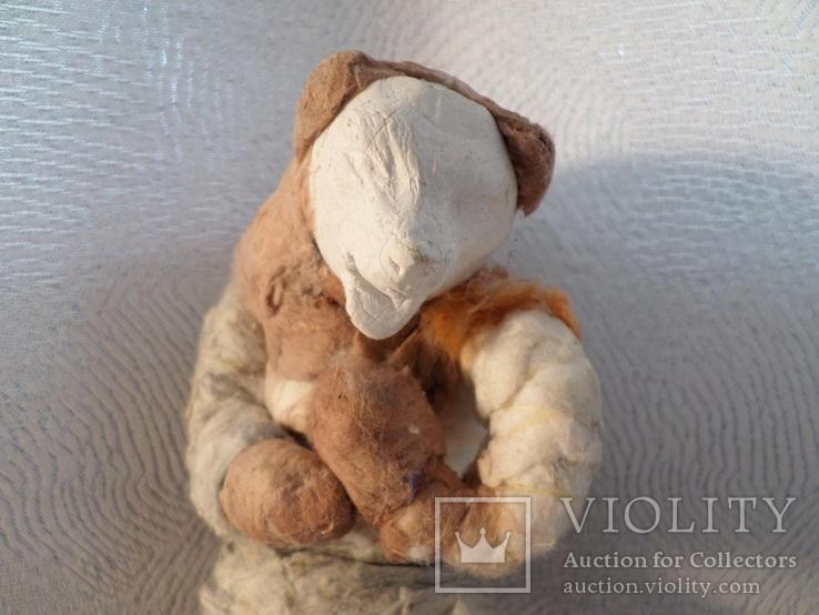 Елочная игрушка СССР медведь 1920 - 1930 гг, фото №3