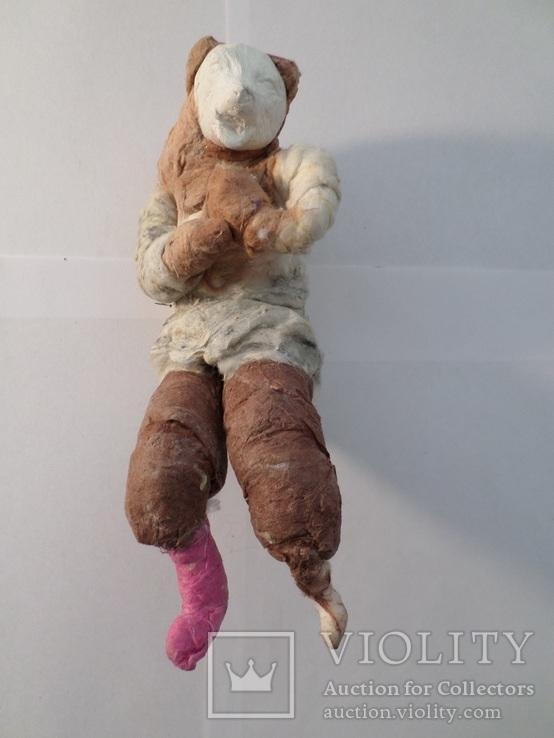 Елочная игрушка СССР медведь 1920 - 1930 гг, фото №7