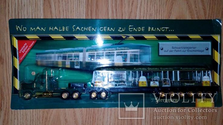 Машинка грузовик эвакуатор + вагон, фото №2