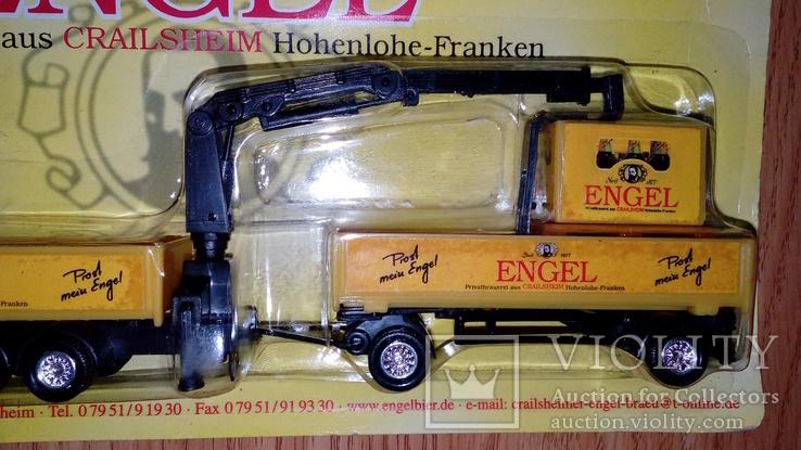 Машинка грузовик манипулятор + прицеп, фото №4