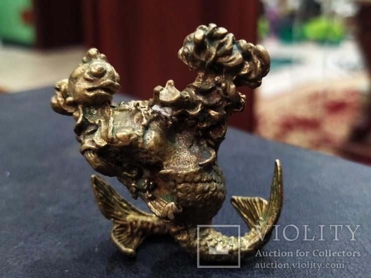 Рыбная Оргия бронза большая коллекционная миниатюра, фото №6