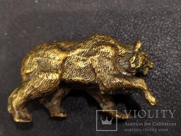 Медведь большой роскошный бронза коллекционная миниатюра, фото №6