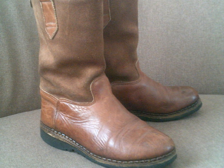 Marcom (Италия) кожаные сапоги на меху разм.40.5, фото №5