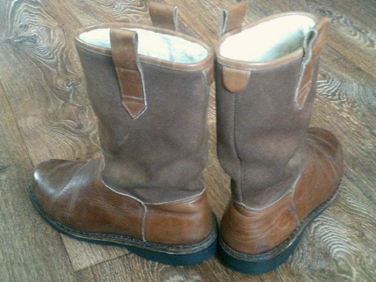 Marcom (Италия) кожаные сапоги на меху разм.40.5, фото №6