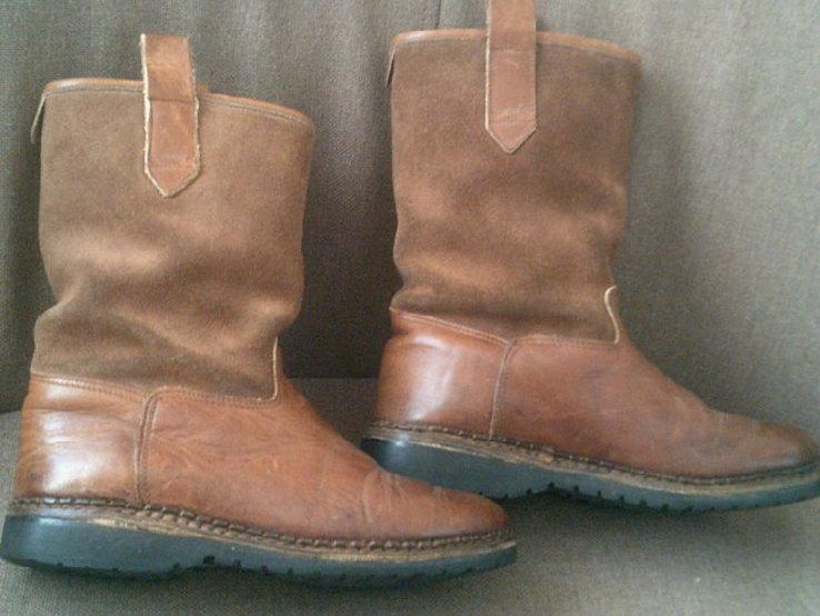 Marcom (Италия) кожаные сапоги на меху разм.40.5, фото №10